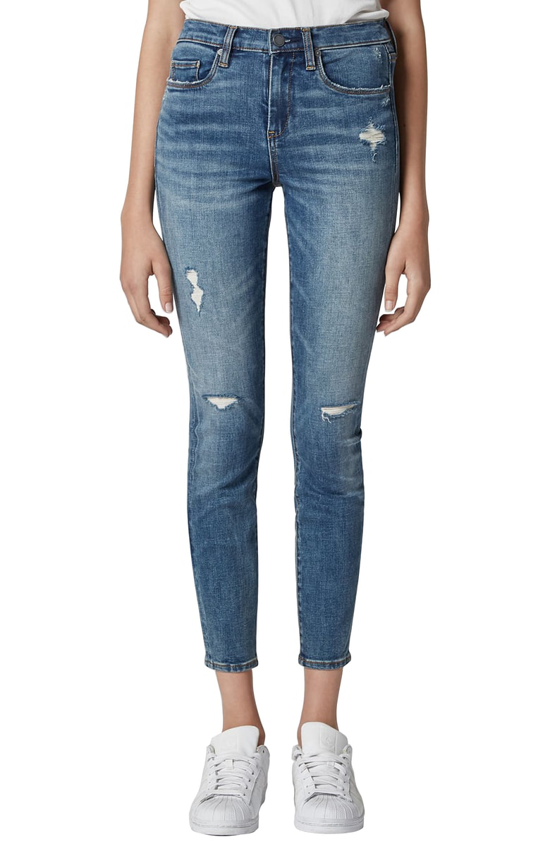239409133e6d Blanknyc The Bond Distressed Crop Skinny Jeans With Zippers In Jersey Girls