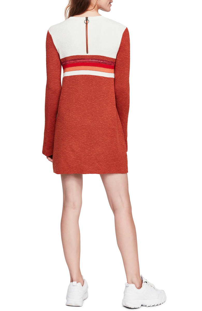 Free People Colorblock Sweater Dress In Red Combo Modesens