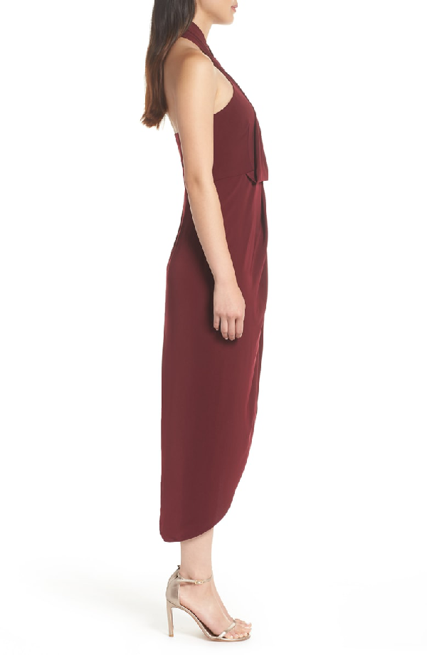 49e0319b4cb Shona Joy Knotted Tulip Hem Midi Dress In Burgundy