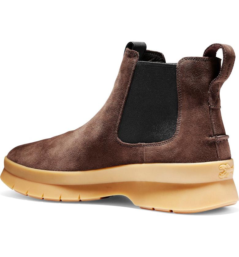 f261547abed Cole Haan Men s Pinch Utility Waterproof Chelsea Boots Men s Shoes In Dark  Brown Waterproof