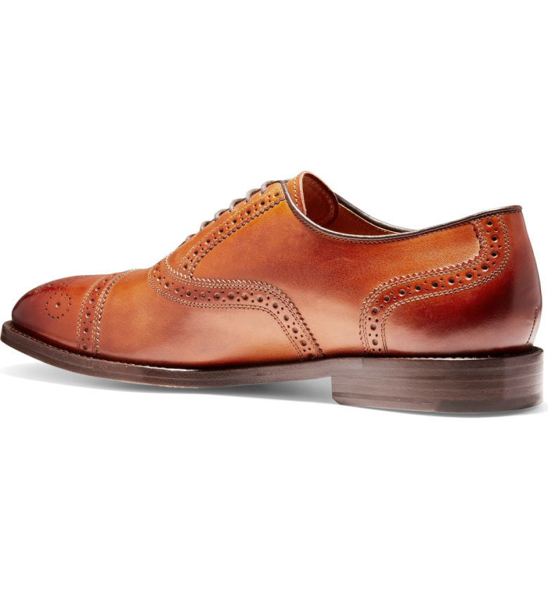 6c0fb4406e0ce1 Cole Haan American Classics Kneeland Cap Toe Oxford In British Tan Leather