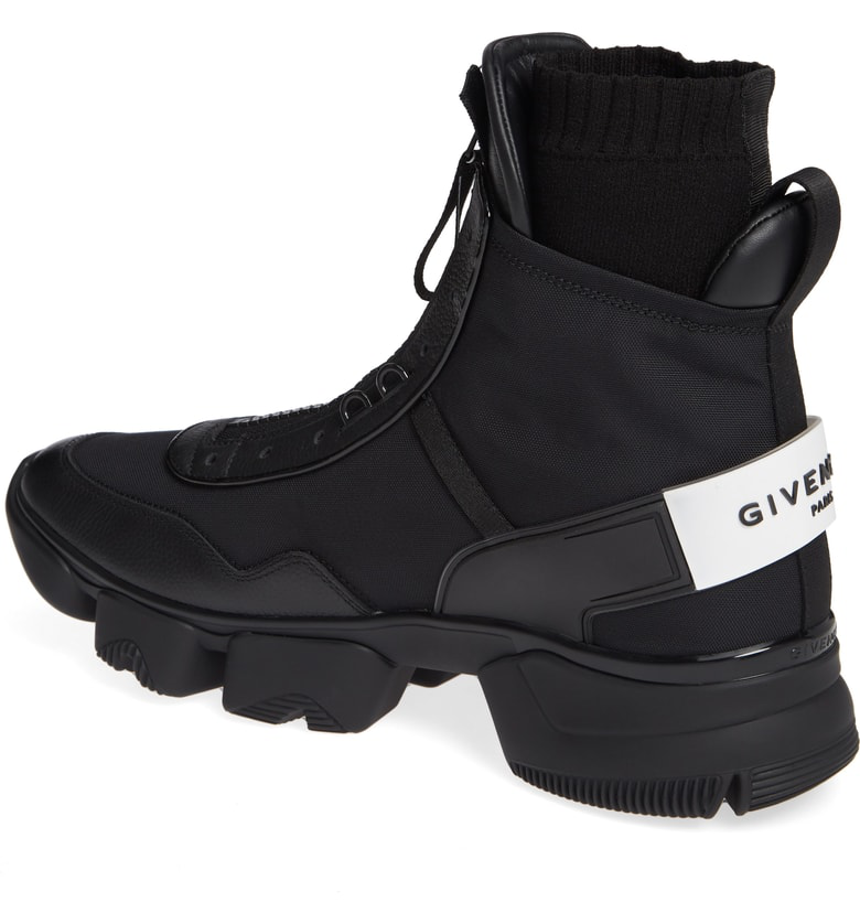 Givenchy High-Top Sneakers Basket Haute Jaw  Nylon Suede Logo Black-Combo