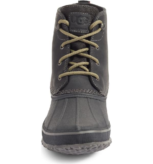 6b756fc3950 Men's Zetik Waterproof Leather Duck Boots in Black