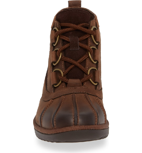 2d1c8c4202a Heather Waterproof Lace-Up Bootie in Coconut Shell Leather
