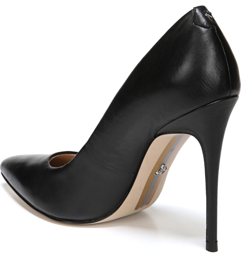 c87bc0a39671c Sam Edelman Women s Danna Pointed Toe High-Heel Pumps In Black Leather