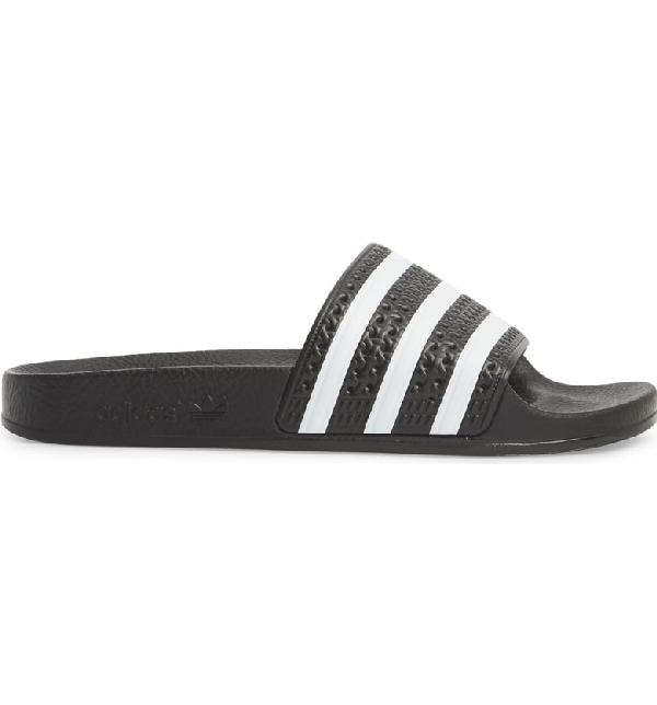 2197b0b0e Adidas Originals Adidas Men s Adilette Slide Sandals From Finish Line In  Black