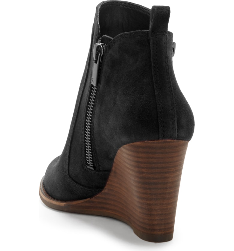 b38f7a25077c Lucky Brand Yahir Wedge Bootie In Black