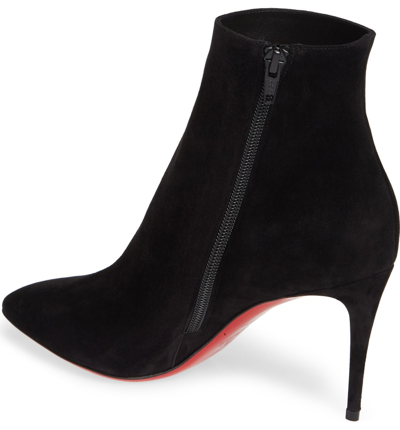 3f514631d7685 Christian Louboutin Eloise Suede Red Sole Booties, Black | ModeSens