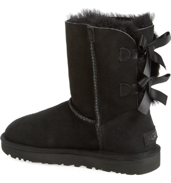 34229b9b937 Ladies Black Bailey Bow Sheepskin Boots