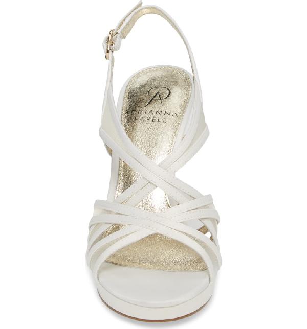 bc85902b6c5 Adrianna Papell Adri Platform Sandal In Ivory Satin