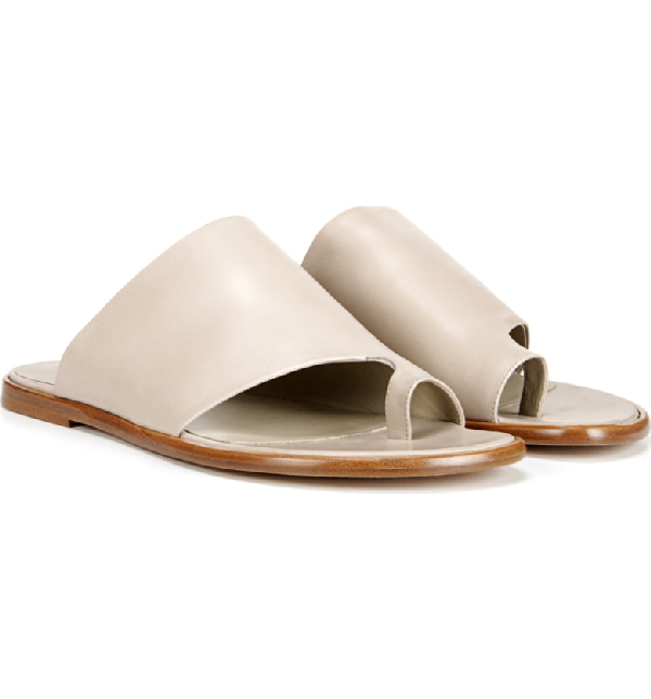 9481632c8bf7 Vince Edris Toe Loop Sandal In Light Straw
