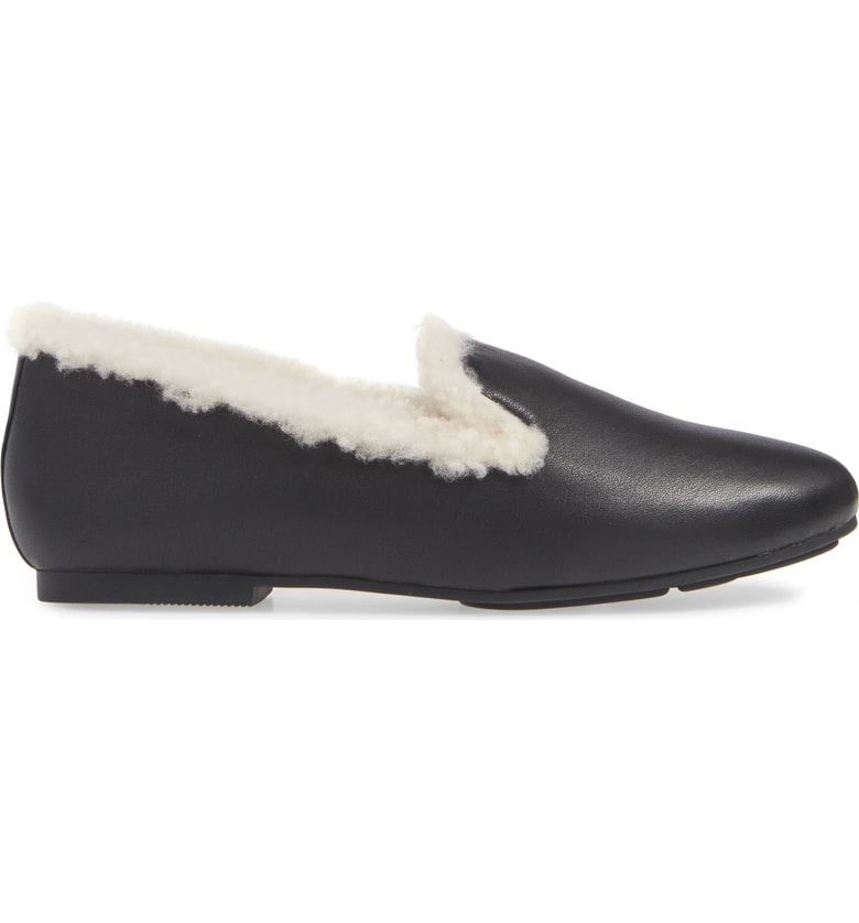3532f646706 Gentle Souls Eugene Genuine Shearling Lined Loafer In Black Leather ...