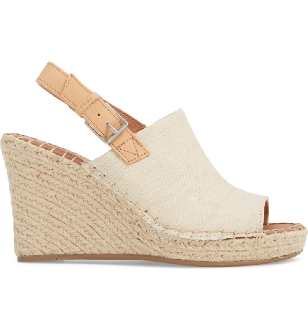 3b3d0ee1fb9 Toms Women s Monica Hemp Espadrille Platform Wedge Sandals In Natural Hemp   Leather