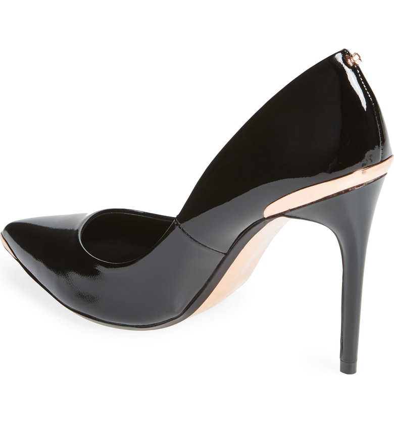 5158e7383432ae Ted Baker Women s Kaawa Patent Leather Pointed Toe Pumps In Black Patent