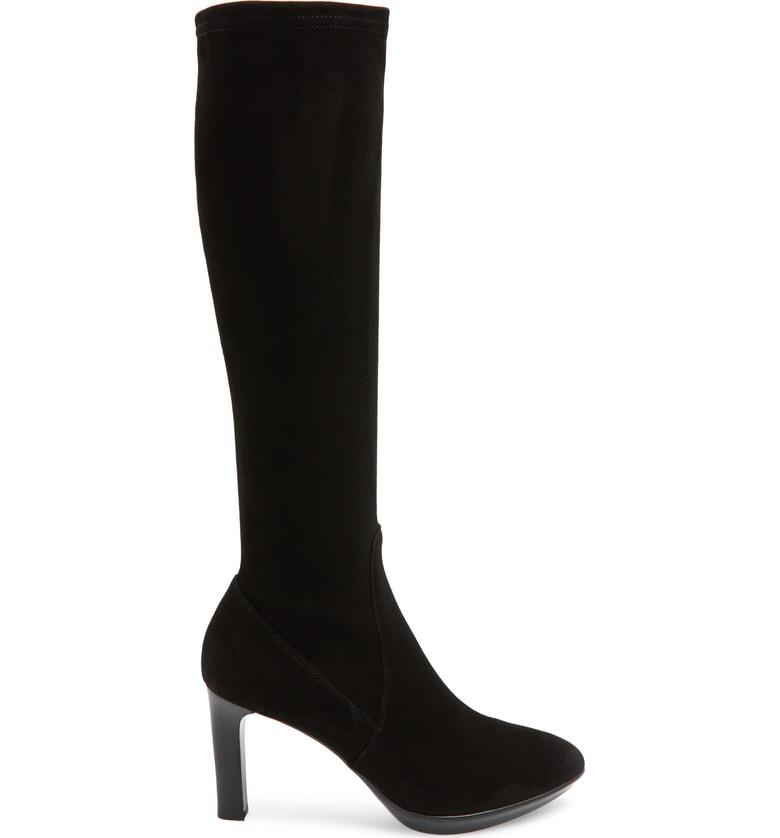0730f5996b0 Aquatalia Women s Rhumba Tall Suede High-Heel Boots In Black