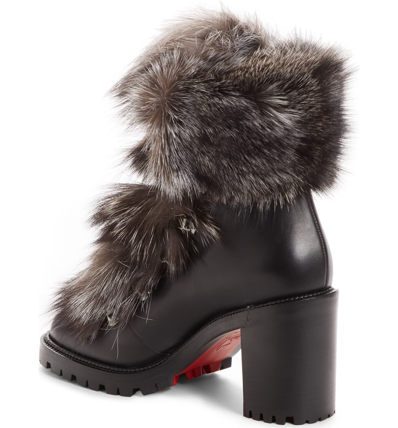 f14c37b41ef Fanny Leather & Fur Ankle Boots - Version Black, Multi