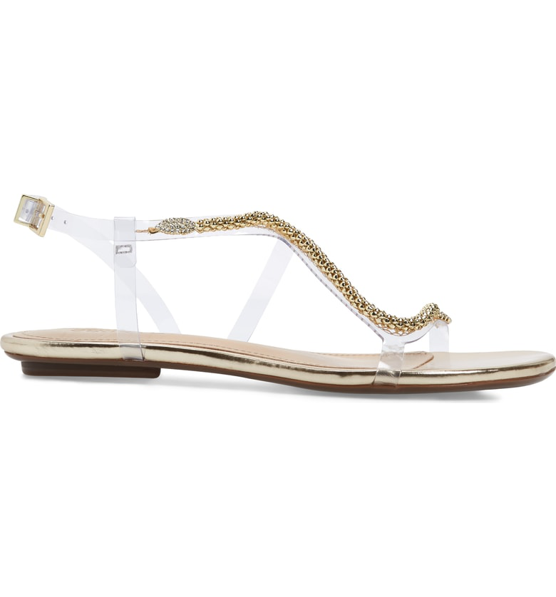 258e373e1 Schutz Women s Gabbyl Open Toe Embellished Sandals In Platina