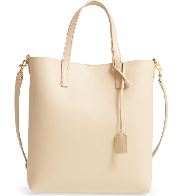 8494204cbeb44 Saint Laurent Toy Leather Shopping Tote Bag - Sand