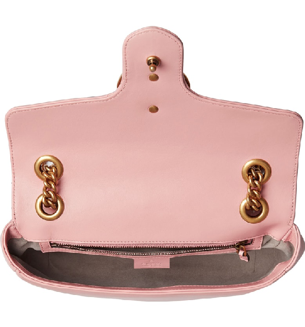 Gucci Small Gg Marmont 2.0 Matelasse Leather Shoulder Bag - Pink
