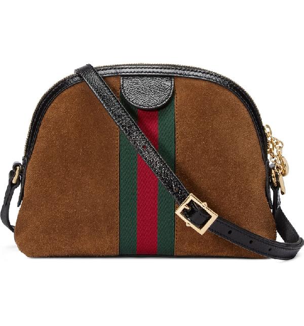 63f25f447 Gucci Linea Dragoni Suede Small Chain Shoulder Bag In Tan | ModeSens