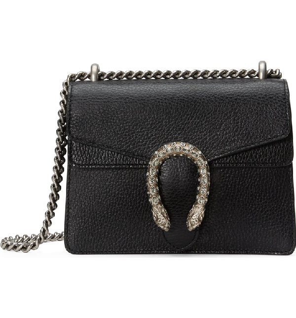 483c49901aed Gucci Dionysus Mini Textured-Leather Shoulder Bag In Black | ModeSens