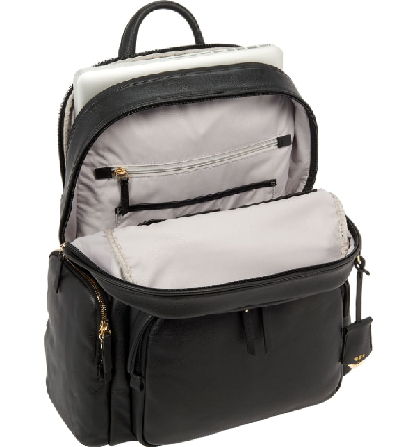 58e63c982f3 Voyageur Carson Leather Backpack - Black