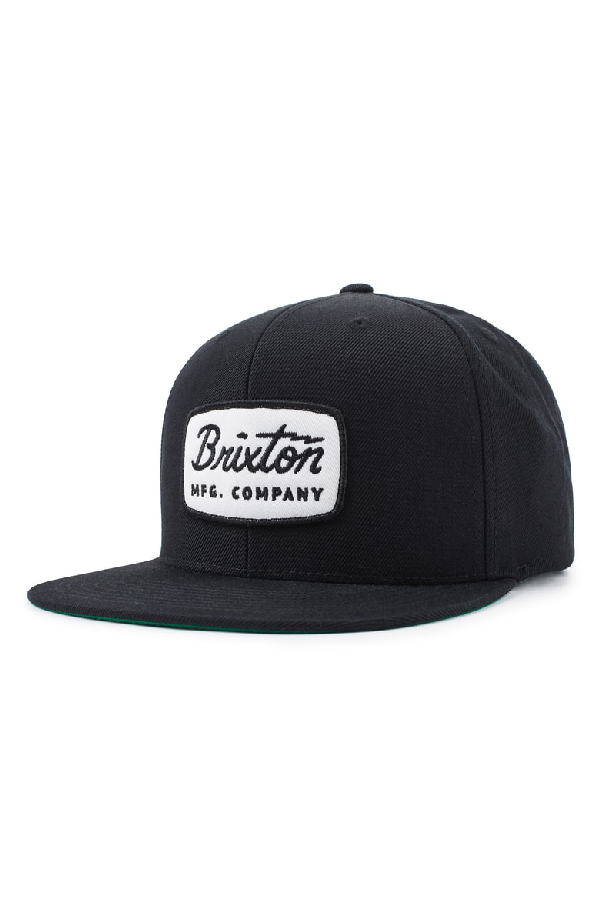a66890aaba4 Brixton  Jolt  Snapback Cap - Black In Black  White