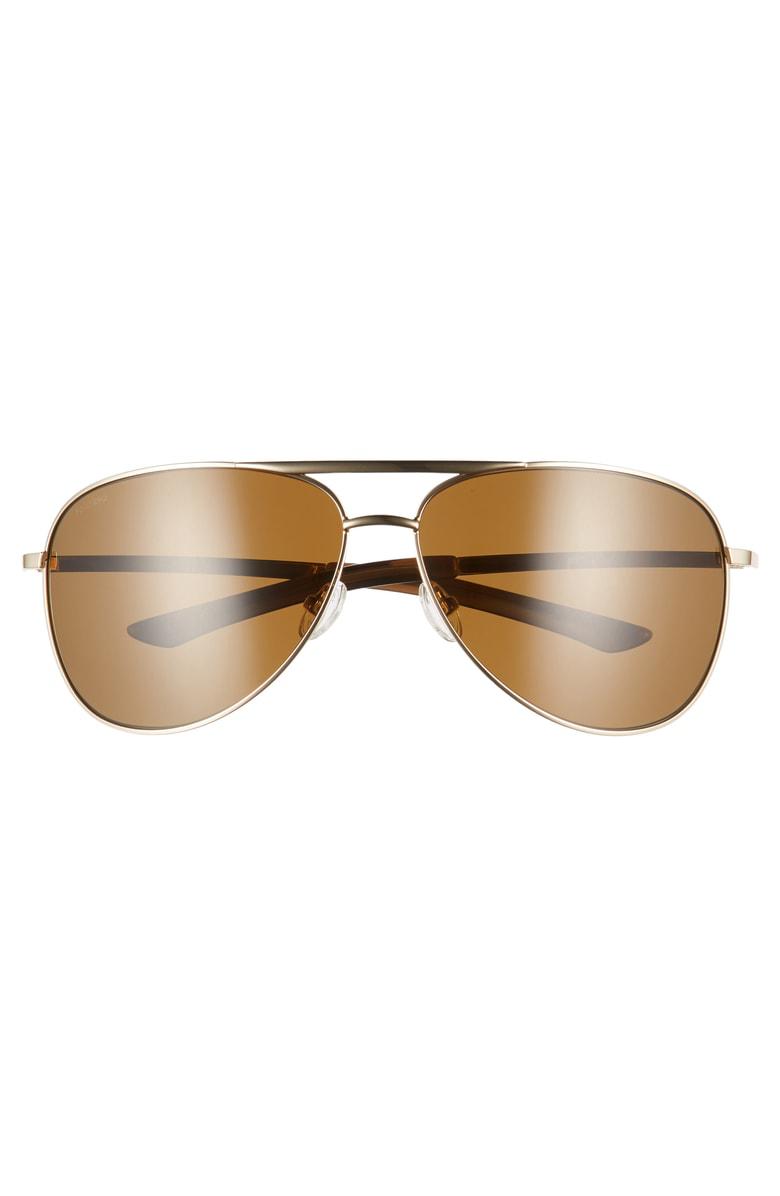 32725604af1ee Smith Serpico 2 65Mm Mirrored Chromapop(Tm) Polarized Aviator Sunglasses -  Gold  Brown