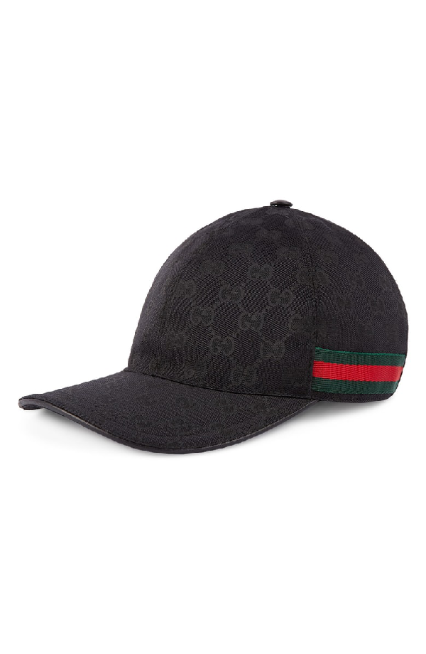 498ca64b Gucci - Original Gg Canvas Baseball Hat With Web In Black   ModeSens