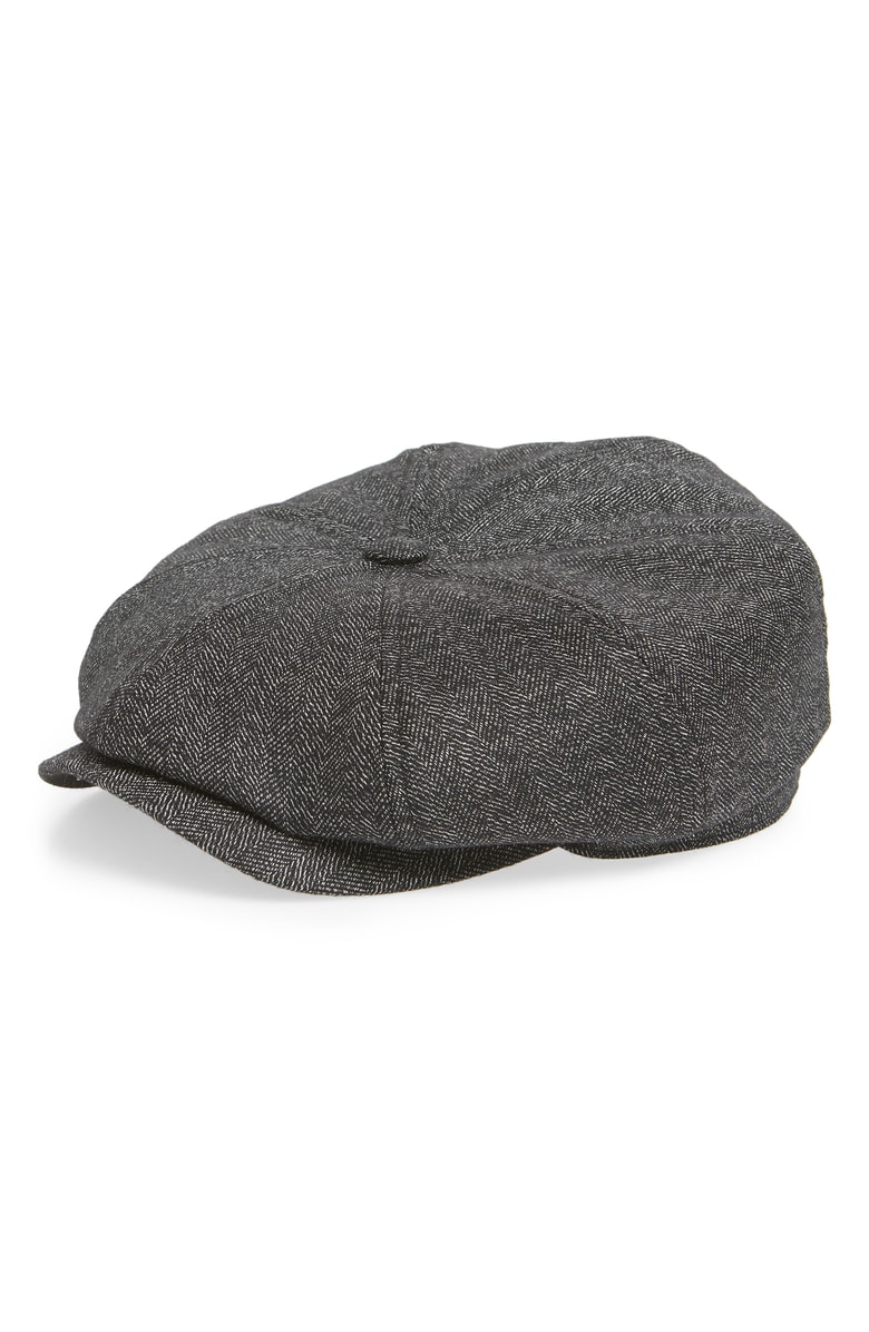 cd2ab887 Ted Baker Herringbone Baker Boy Hat In Charcoal | ModeSens