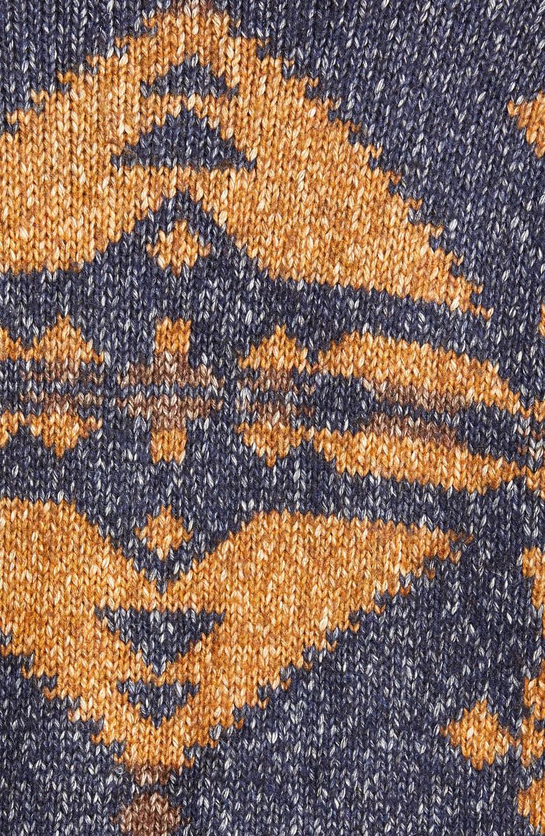 e69b88ea7b620 Schott Geo Pattern Cardigan In Navy
