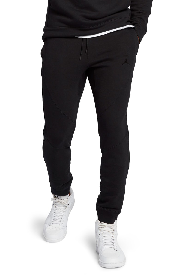 86ea60be196a Nike Wings Fleece Black Cotton Pants In Black  Black