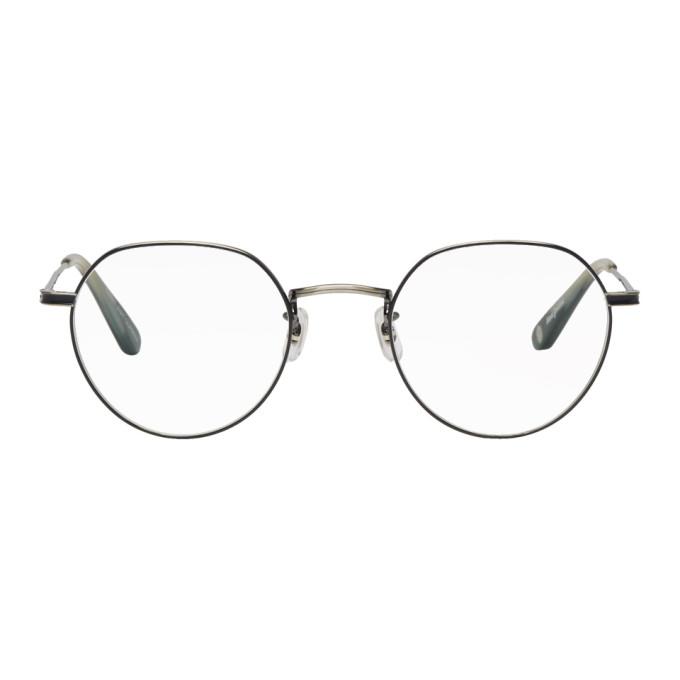 9db833403a2 Garrett Leight Silver And Black Robson Glasses In Pewterbaslt