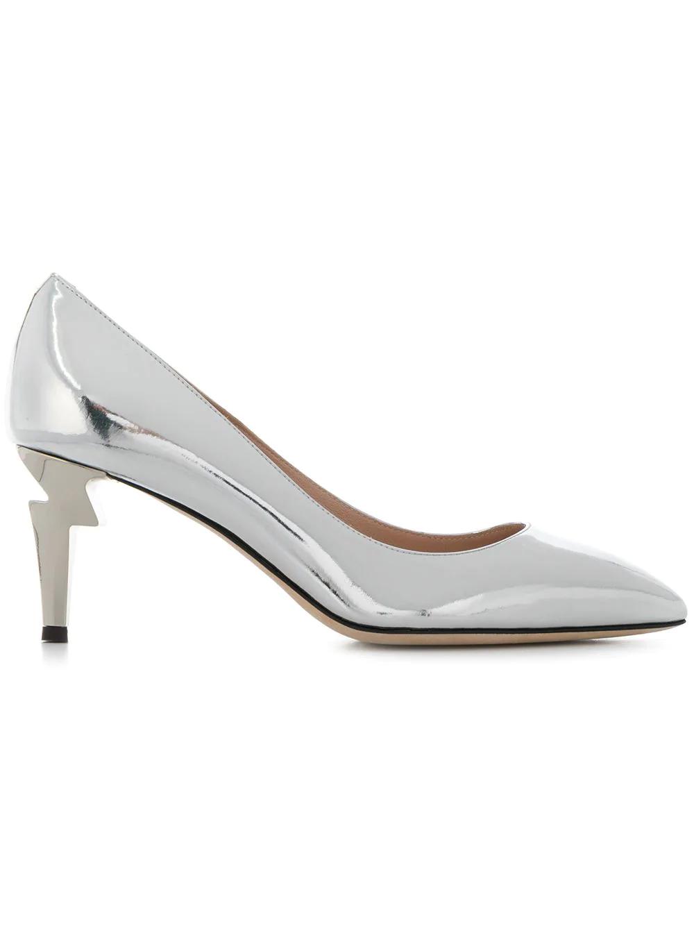 90e082182ab36 Giuseppe Zanotti Sculpted Heel Pumps - Silver | ModeSens