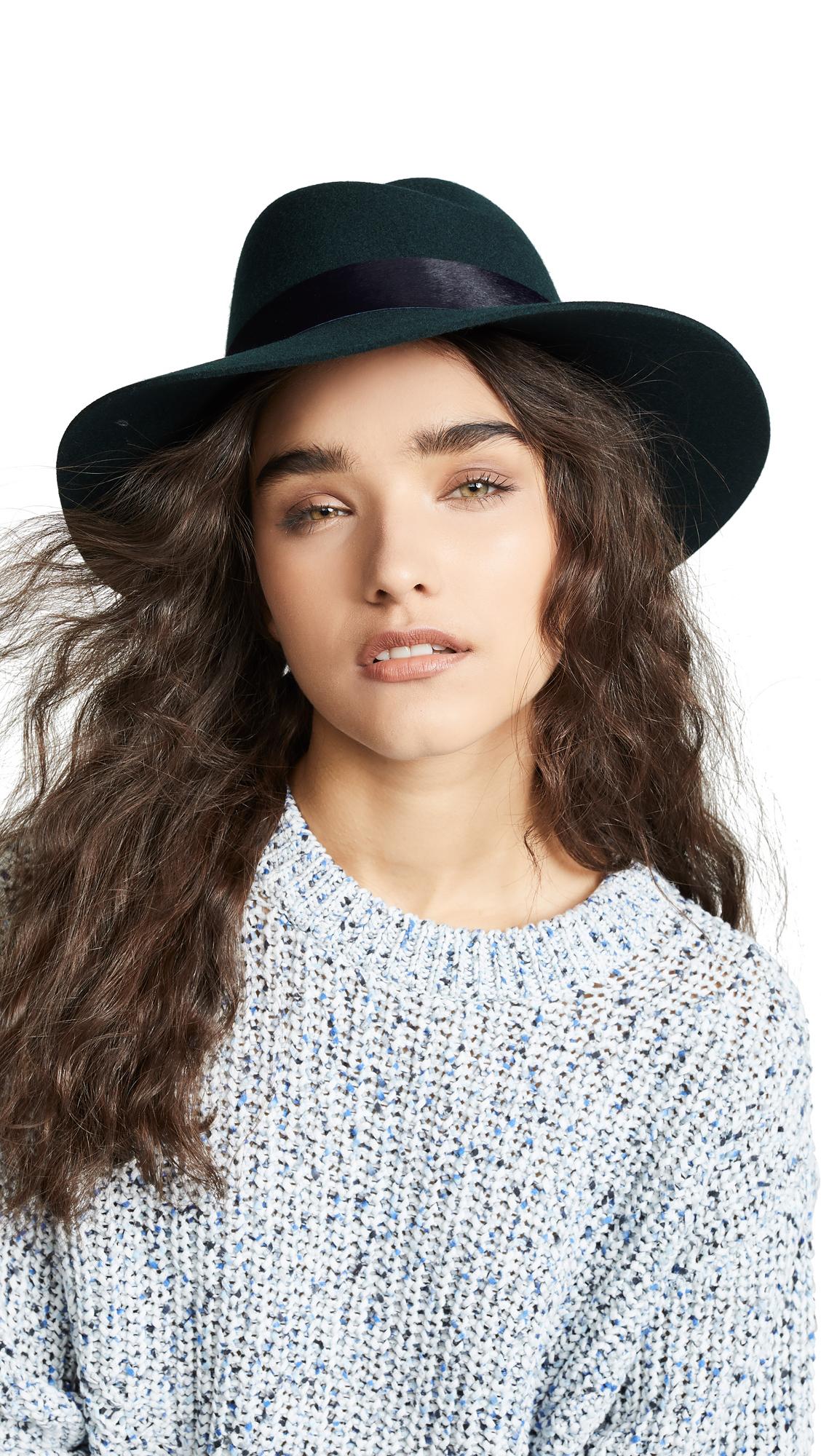 0e66482244f1e Rag   Bone Zoe Fedora Hat In Dark Teal