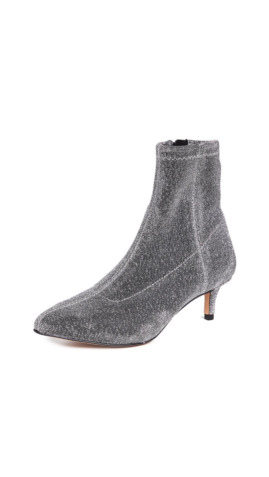 3d9f6ba828 Rebecca Minkoff Women's Sayres Glitter Kitten-Heel Booties In Silver ...
