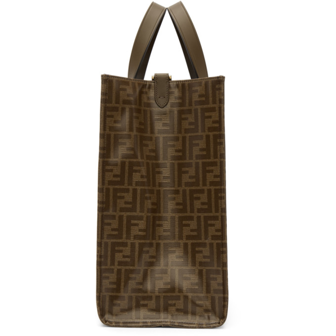 5b2bd94c3f5 Fendi Shopping Small Coated Canvas Tote Bag - Tabacco In Brown Multi ...