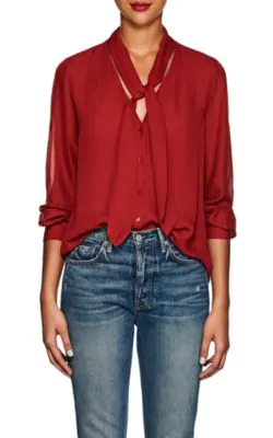 1f3c33720c97b6 L Agence Gisele Silk Blouse In Red