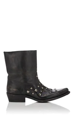 cac324d9 Tribute Distressed Leather Ankle Boots in Black