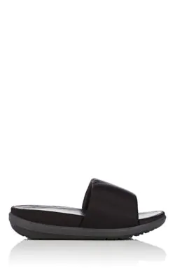 0cd850ca0 Fitflop Limited Edition Loosh Satin Slide Sandals In Black