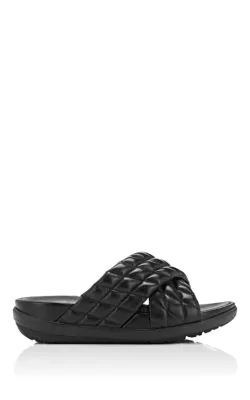 ea6811a14 Fitflop Limited Edition Loosh Luxe Quilted Leather Slide Sandals In Black