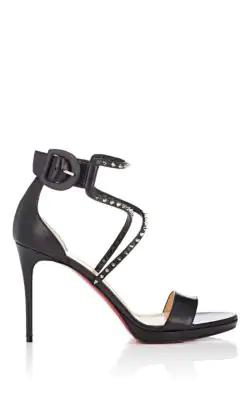 70e3072c123 Christian Louboutin Choca Studded Leather Platform Sandals - Black ...