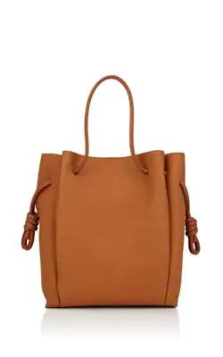 40731f56a66f Loewe Flamenco Knot Leather Tote Bag - Camel