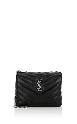 6abf116112c Saint Laurent Loulou Monogram Ysl Small V-Flap Chain Shoulder Bag - Miroir  Hardware In