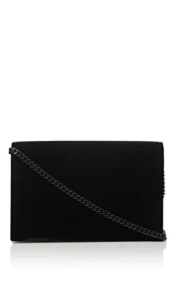 6281ca85c58 Saint Laurent Kate Toy Small Crystal-Monogram Ysl Tassel Velvet Wallet On A  Chain -