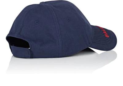 c85b015fcd1 Balenciaga Logo-Embroidered Cotton-Twill Baseball Cap - Navy - One Siz In  Blue