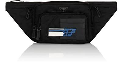 f5100bd2e7e7 Prada Tessuto Impunturato Fanny Pack Bag In Black | ModeSens