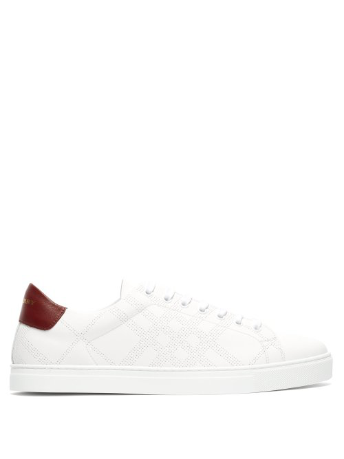 c29f279c2466 Burberry Perforated Leather Sneakers - White