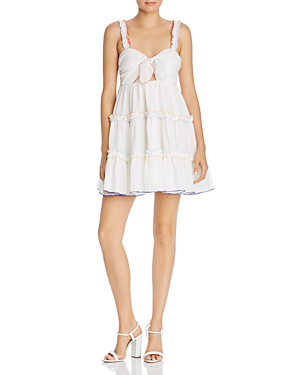 679a51165b Red Carter Harper Tie-Front Ruffle Coverup Dress In Ivory | ModeSens
