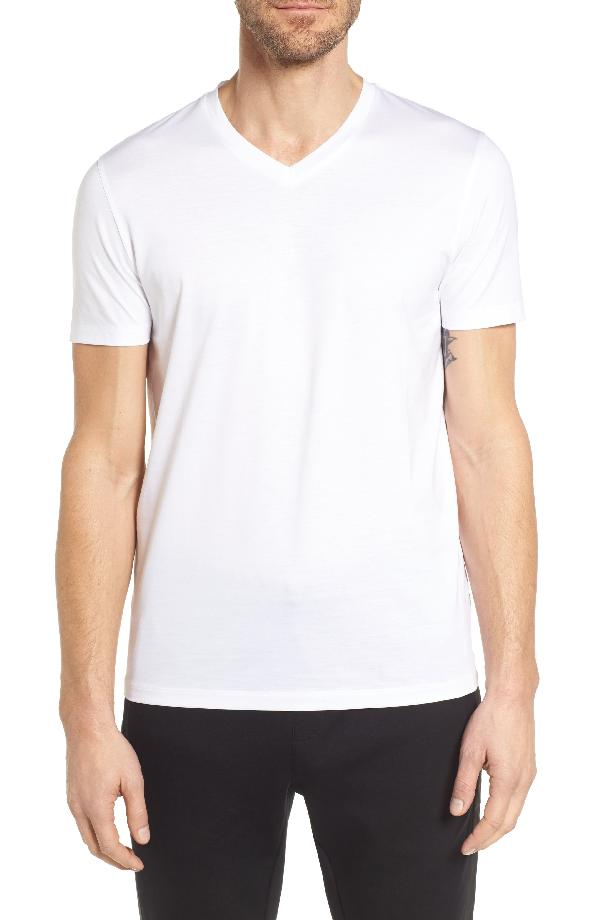 Hugo Boss Mens Tilson 10 Short Sleeve V-Neck T-Shirt